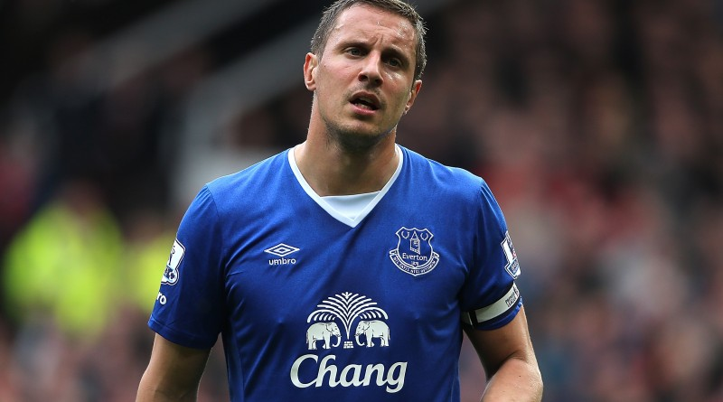 MANCHESTER, ENGLAND - APRIL 03:  Phil Jagielka of Everton looks on during the Barclays Premier League match between Manchester United and Everton at Old Trafford on April 3, 2016 in Manchester, England.  (Photo by Matthew Ashton - AMA/Getty Images)