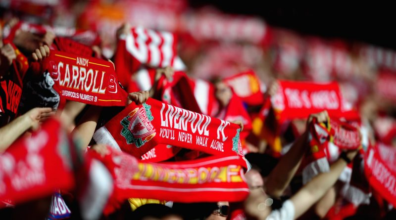 LIVERPOOL, ENGLAND - MARCH 24: Liverpool Fans during the Barclays Premier League match between Liverpool and Wigan Athletic at Anfield on March 24, 2012 in Liverpool, England.  (Photo by Laurence Griffiths/Getty Images)
