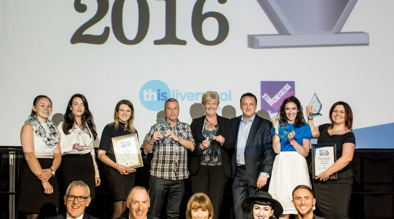Neil Fitzmaurice with category award winners at Liverpool BID Company's 2016 Mystery Shop Awards
