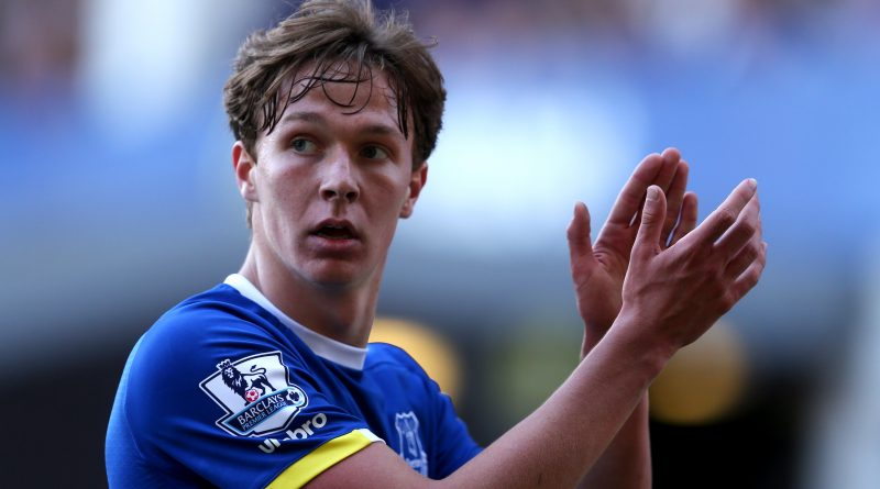 LIVERPOOL, ENGLAND - MAY 15: Kieran Dowell of Everton applauds the fans during the Barclays Premier League match between Everton and Norwich City at Goodison Park on May 15, 2016 in Liverpool, England. (Photo by Chris Brunskill/Getty Images)