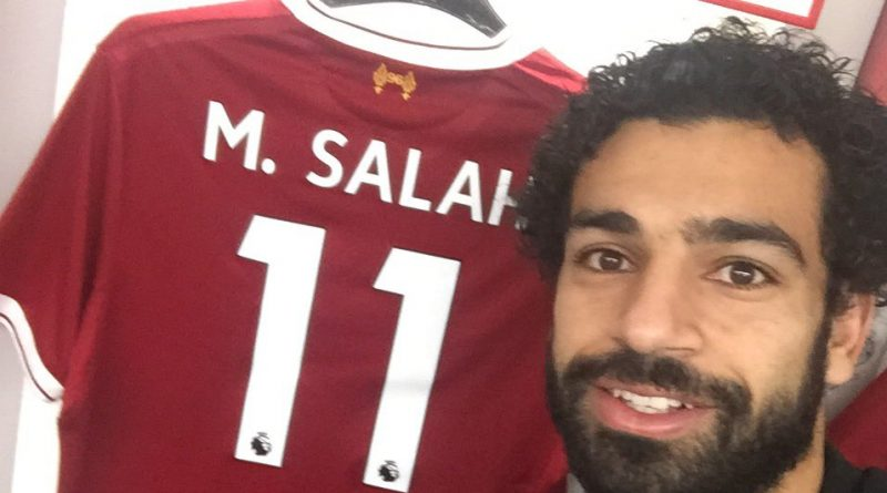 Billedresultat for mohamed salah liverpool shirt