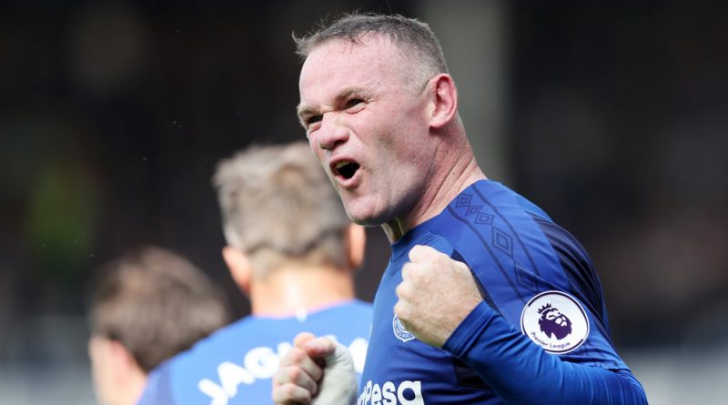 Incredible scenes as Wayne Rooney scores on return to Everton